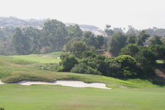 Golf Course. Resort golf course with a sand trap Stock Photo