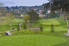 Golf course in retirement community. Royalty Free Stock Photo