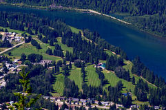 Golf Course at Revelstoke Stock Images