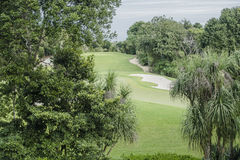 Golf Course. On Riviera Maya in Mexico Royalty Free Stock Photography