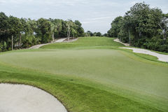Golf Course. On Riviera Maya in Mexico Stock Images