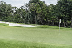 Golf Course. On Riviera Maya in Mexico Stock Image