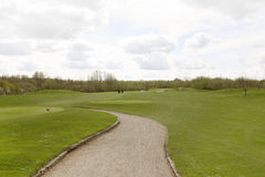 Golf course road Royalty Free Stock Photography