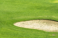 Golf course sand pit Royalty Free Stock Photo