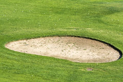 Golf course sand pit Stock Photography