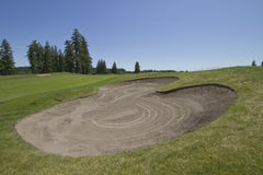 Golf Course Sand Trap 3 Stock Images