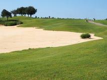 Golf course sand trap Stock Photos