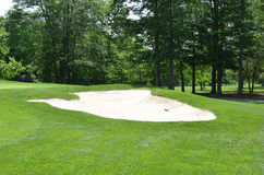 Golf course sand trap Royalty Free Stock Image