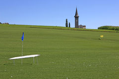Golf Course Schluein - Sagogn, Switzerland Stock Image