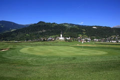 Golf Course Schluein - Sagogn, Switzerland Royalty Free Stock Photo