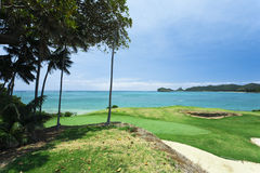 Golf Course by the Sea Stock Image