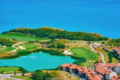 Golf Course on the Sea Shore royalty free stock image