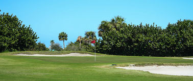 Golf Course Series. Florida golf course greens and fairways in spring Stock Photos