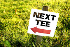 Golf Course Sign. Sign on golf course Stock Images