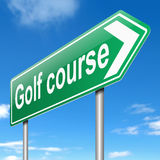 Golf course sign. Stock Photography