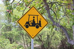 Golf course sign Royalty Free Stock Photography