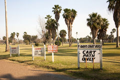 Golf Course Signs Stock Image
