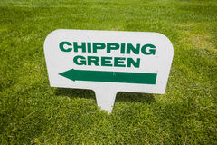 Golf Course Signs  Royalty Free Stock Photography