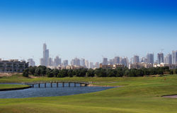 Golf course and Skyline Royalty Free Stock Photo