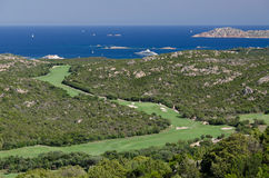 Golf course, Smeralda coast, Sardinia Stock Photos