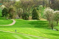 Golf Course In Springtime royalty free stock photos