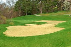 Golf Course In Springtime stock photo