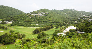 Golf Course on St Thomas Stock Photos