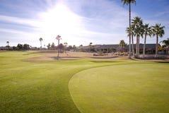 Golf Course in the Sun Stock Photos
