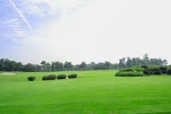 Golf course in sunny autumn. Chengdu,China Royalty Free Stock Photos