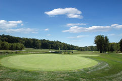 Golf course on a sunny day Royalty Free Stock Photos