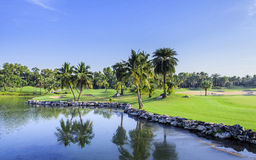 Golf course on a sunny day, Thailand Royalty Free Stock Image