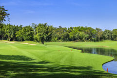 Golf course on a sunny day, Thailand Stock Photography