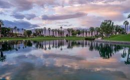 Golf course sunrise Royalty Free Stock Image