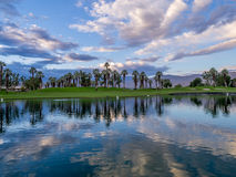 Golf course sunrise Stock Photos