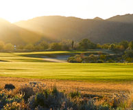 Golf Course at Sunset. Verrado Arizona Stock Image
