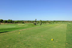 Golf course, tee, Andalusia, Spain Royalty Free Stock Photos