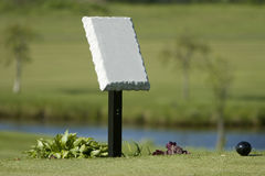 Golf Course Tee Identification Post Stock Photography