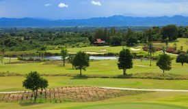 Golf course in Thailand Royalty Free Stock Photo