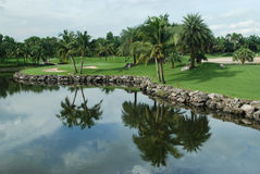 Golf course in Thailand Royalty Free Stock Photography