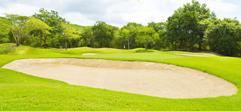 Golf course and  in Thailand Royalty Free Stock Images
