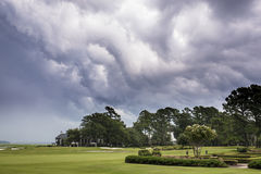 Golf course thunderstorm Royalty Free Stock Photos