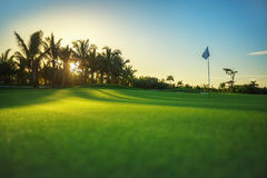 Golf course in tropical resort Stock Photography