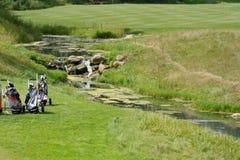 Golf course of Tseleevo Golf & Polo Club Royalty Free Stock Photos