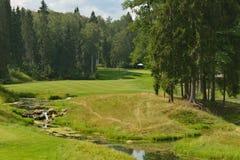 Golf course of Tseleevo Golf & Polo Club Royalty Free Stock Images