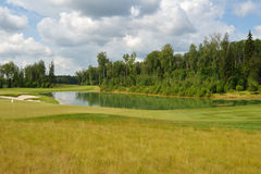 Golf course of Tseleevo Golf & Polo Club Stock Photos