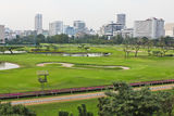 Golf course in urban Royalty Free Stock Images