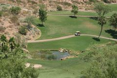 Golf course in Vegas. Golf course area in Vegas royalty free stock image