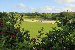 The golf course at Vidanta Riviera Maya Stock Photos