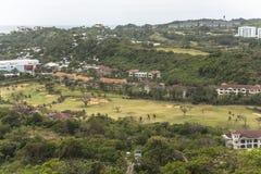 Golf course view on Boracay island, philippines stock photo