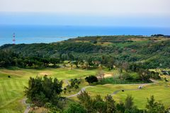 Golf course view Stock Image